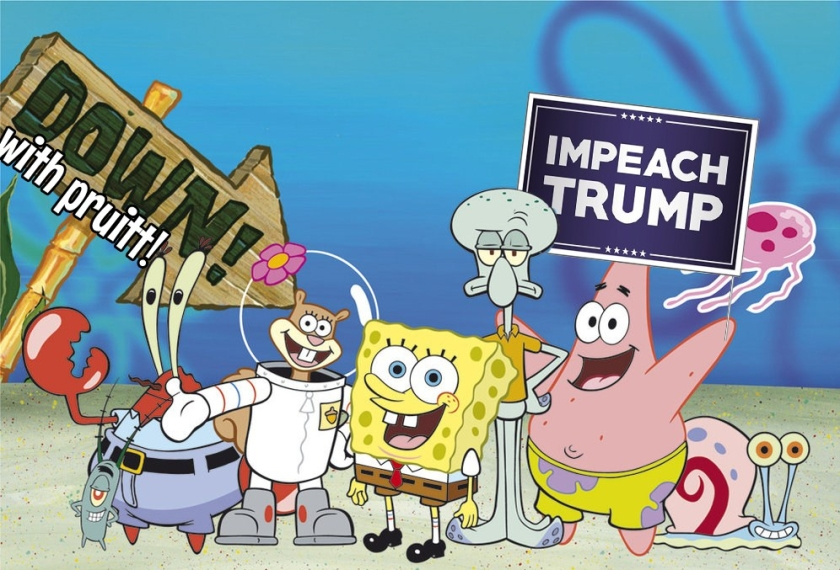 OMFG TRUMP - Spongebob protestors