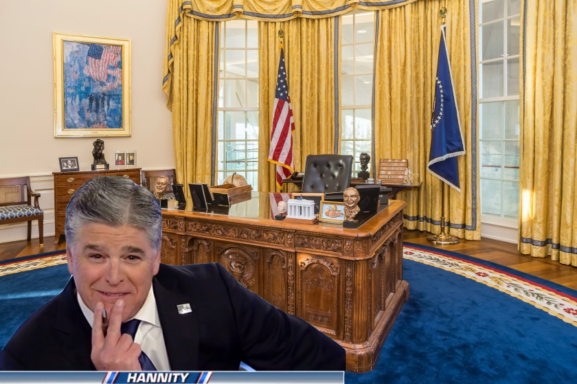 OMFG TRUMP - Hannity in White House