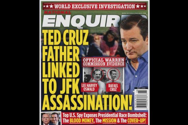 OMFG TRUMP - Enquirer Cruz Kennedy