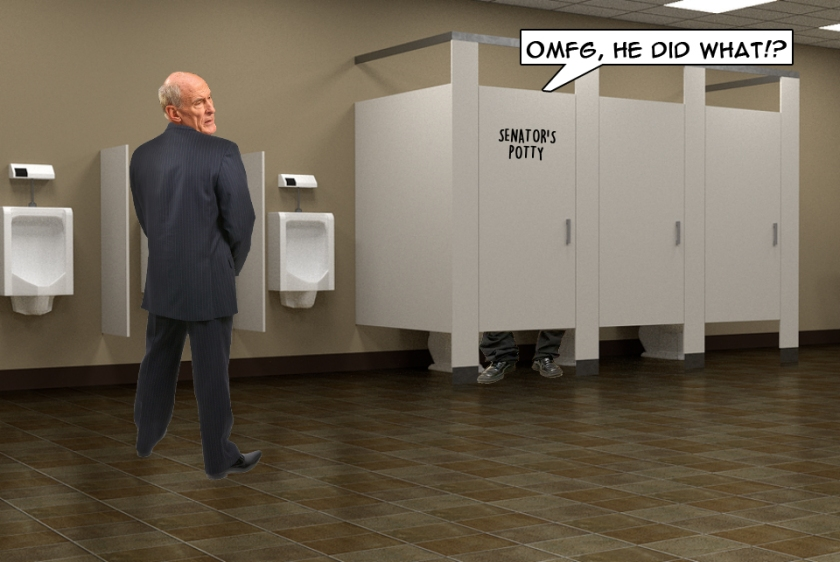 OMFG TRUMP - Dan Coats at Urinal