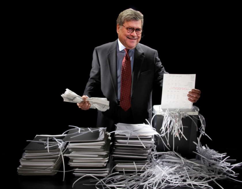 OMFG TRUMP - barr shredding mueller report