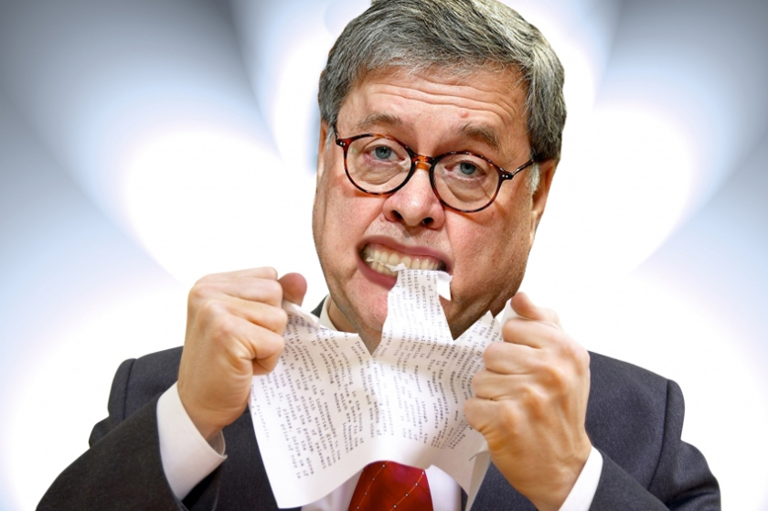 OMFG TRUMP - Barr eating Mueller report