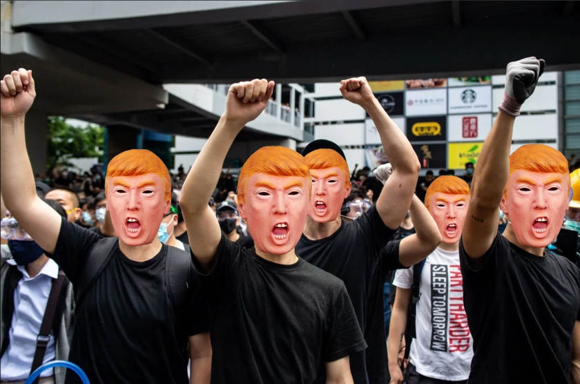 OMFG TRUMP - Hong kong protest mask