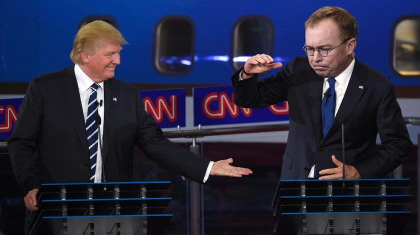 OMFG TRUMP - Mick Mulvaney high five.jpg