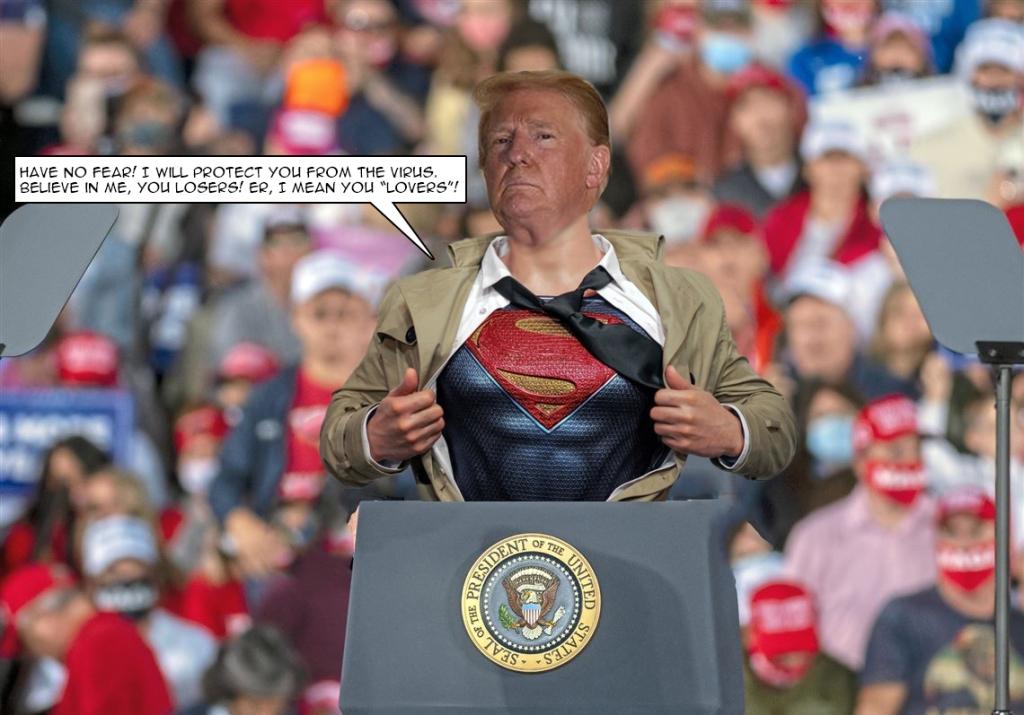 donald trump as superman